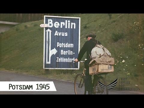 Potsdam im Juli 1945 (nach dem 13.7., in Farbe und HD ...