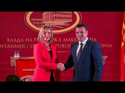 Αισιοδοξία Μογκερίνι για συμφωνία Αθήνας-Σκοπίων