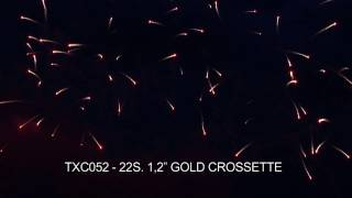 Evantai Single Line 22 S Gold Crossette