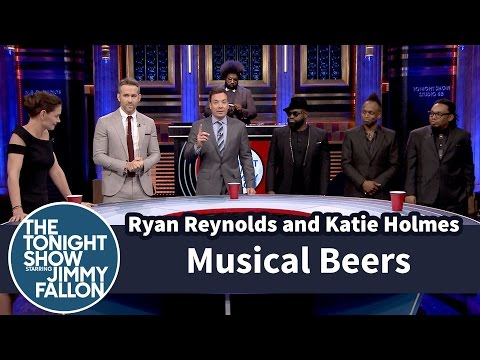 Jimmy Fallon, Katie Holmes, Ryan Reynolds and the Roots, Musical Beers