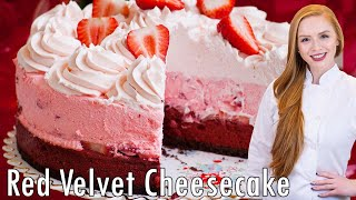 Red Velvet Strawberry Cheesecake by Tatyana's Everyday Food