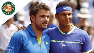 Match of the day #14 - Rafael Nadal v Stan Wawrinka Men's Final  Roland-Garros 2017. Let's have a focus on the Rafael Nadal and Stan Wawrinka duel at the men's final of French Open 2017. Rafael Nadal won 6/2 - 6/3 - 6/1.Visit Roland Garros' official website: http://rg.fr/RGwebSubscribe to our channel: http://rg.fr/ytrginFollow us!Facebook: http://rg.fr/FBRolGaTwitter: http://rg.fr/TwrolgInstagram: http://rg.fr/instRGThis is the official YouTube Channel of Roland Garros, home of the French Open. The tournament 2017 will run from 22 May- 11 June.