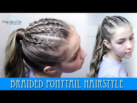 Braid hairstyles - BRAIDED PONYTAIL HAIRSTYLE!