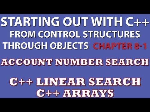 C++ Programming Challenge 8-1 Part 1: Charge Account Validation (C++ Array, Linear Search)
