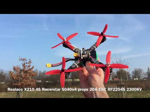 Flight Test 2 with X210 and Racerstar 5040x4 props