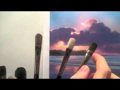 filbert brush - http://www.willkempartschool.com How to choose the right brush for your acrylic painting. Learn how to choose the right paintbrush for beginning acrylic pain...