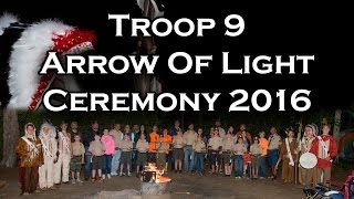 Troop 9 AOL Ceremony 2016