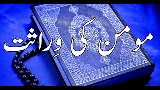 Momin ki virasat|Best Islamic quotes in urdu|Wirasat in urdu|Islamic Quotes in urdu| By Golden Wordz