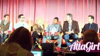 Adam Levine, Usher, Shakira&amp;Blake Talk