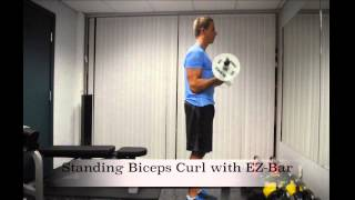Exercise Index: Standing Bicep Curl with EZ-Bar