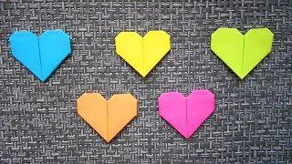 Как сделать сердце из бумаги ❤️ Оригами сердце