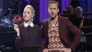 Video Ryan Gosling & Emma Stone MOCK La La Land On SNL - Ryan Breaks Character MP3, 3GP, MP4, WEBM, AVI, FLV April 2018
