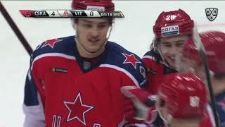 Первая шайба Чмыхова в КХЛ