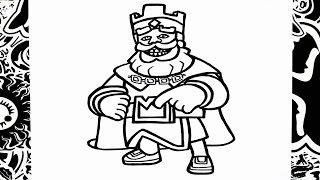 como dibujar al rey de clash royale   how to draw king of clash royale