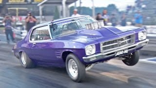 582ci Holden MONARO HQ on 3 WHEELS! by 1320Video