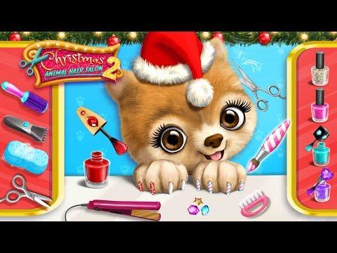 Puppy Pepper's Xmas Makeover  Christmas Animal Hair Salon 2  TutoTOONS Cartoons & Games for Kids