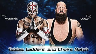 WWE 2K17 Giant Rey Mysterio vs Giant Big Show Tables, Ladders, and Chairs Match PS4 SUBSCRIBE FOR MORE WWE 2K17...