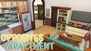 OPPOSITE ROOMMATES APARTMENT 🎸💻   The Sims 4   Apartment Renovation Speed Build