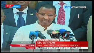 Government statement on the IEBC exit package 30th September 2016