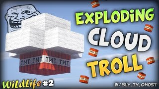 [996K SPECIAL] TROLLY EXPLODING CLOUDS AND SPACE LAUGH - Minecraft Wildlife Parkour #2 Finale