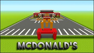 Minecraft Tutorial: How to build mcdonalds (Interior)