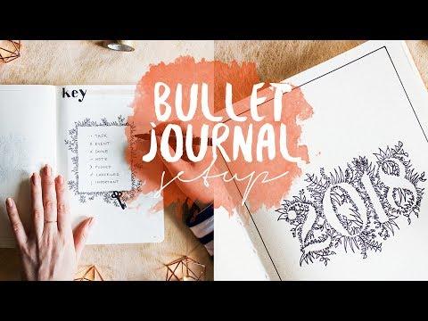 The ultimate BULLET JOURNAL setup 2018   free future log printable