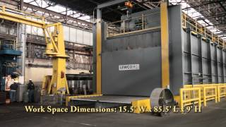 """When a magnesium fire destroyed a furnace at a Midwest primary metal producer, LEWCO, Inc., Sandusky, OH responded to deliver a large 1000˚F roller hearth furnace in (7) months.  The turnkey project included design, manufacture, installation and commissioning.Designed primarily for preheating coils, the five-zone conveyor oven has a capacity of 180,000 lbs. when fully loaded.  The hot zone is 15 ft. wide x 85.5 ft. long x 9 ft. high.  Four of the five zones deliver vertical down air flow to the workspace.  The first zone however, which can be separated from the rest of the furnace by a guillotine divider door, features dual air flow to support a proprietary process.  In effect the equipment can be operated as a 5-zone, pass through furnace or (2) independent furnaces operating at different temperatures and accommodating load/unload sequences at the same end.   The roller hearth is """"loop-to-loop"""", chain-driven live roller conveyor featuring 6"""" diameter alloy steel rollers on 12"""" centers.  The conveyor system is divided into (16) zones, each on a separate drive, which permits zone accumulation capability.  In automatic mode, the furnace can be fully loaded, filling zone by zone, and then unloaded without operator intervention.Specifications:• Maximum Temperature: 1000˚ F.• Workspace Dimensions: 15.5 ft. wide x 85.5 ft. deep x 9 ft. high• Heat Capacity: 20,000,000 BTU's/ Hr.• Circulation: 300,000 CFM• Control: Honeywell HC900 • Construction: Stainless steel inner shell, 10"""" insulation, 3/16"""" plate exterior casing.• Hearth: Chain-Driven Live Roller Conveyor"""
