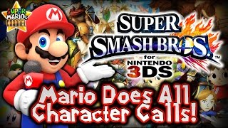 If Mario was the SSB4 Announcer – All Character Calls!