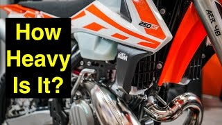 9. How Heavy is the 2017 KTM 250 XC? - Episode 219