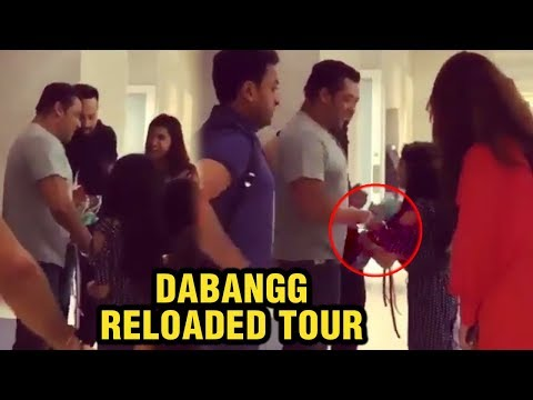 Salman Khan Mobbed By Kids As He Enters Dabangg To
