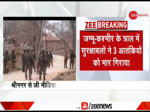 J&K: 3 Terrorists Neutralised In Tral Encounter; Search Operations Underway