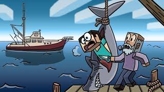 Minecraft | HUMAN EATING SHARK HUNTER CHALLENGE! (Shark Attack Mystery)