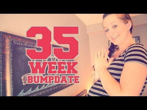 35 WEEK BUMPDATE – First Midwife Appointment, Naps, and HUGE pregnant Belly!