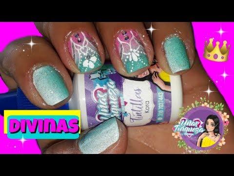 Modelos de uñas - Decoración de Uñas/Diseño de Uñas/Uñas Turqueza
