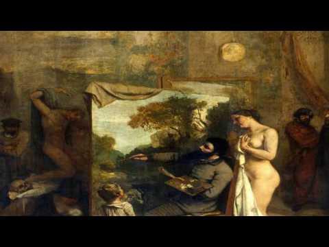 Peinture d'après COURBET - Le sommeil