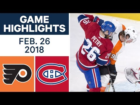 Video: NHL Game Highlights | Flyers vs. Canadiens - Feb. 26, 2018