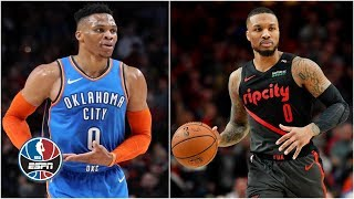 Russell Westbrook, Damian Lillard shine in drama-filled Thunder vs. Blazers | NBA Highlights