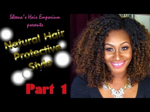 Curly Girls Have More Fun: Natural Hair Protective Style Part 1 | Braid pattern and Leave Out