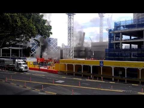 Here's Footage of the Barangaroo Fire Which Has Brought Sydney To A Halt