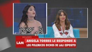 Video Ángela Torres le responde a los polémicos dichos de Lali Espósito MP3, 3GP, MP4, WEBM, AVI, FLV Oktober 2017