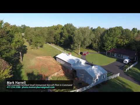 Licensed aerial drone video from Springfield, Missouri