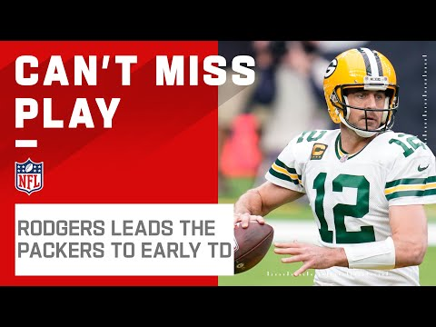 Rodgers Leads Packers on Opening TD Drive