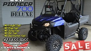 2. 2017 Pioneer 700 Deluxe Review of Specs + Discounted Prices @ Honda of Chattanooga in TN!