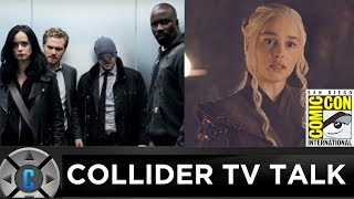 On this episode of Collider TV Talk (July 24, 2017) Josh Macuga, David Griffin, and Sinead de Vries discuss:- Comic-Con 2017 recap- The Defenders premiere review- Stranger Things Season 2 trailer- Game of Thrones- Ozark pilot review- Preacher- Highs and lows- Live twitter questionsFollow Josh: https://twitter.com/JoshMacugaFollow David: https://twitter.com/griffindeFollow Emma: https://twitter.com/EmmaFyffeFollow Sinead: https://twitter.com/SineadDeVriesFollow us on Twitter: https://twitter.com/ColliderVideoFollow us on Instagram: https://instagram.com/ColliderVideoFollow us on Facebook: https://facebook.com/colliderdotcomAs the online source for movies, television, breaking news, incisive content, and imminent trends, COLLIDER is a more than essential destination: http://collider.comFollow Collider.com on Twitter: https://twitter.com/ColliderSubscribe to the SCHMOES KNOW channel: https://youtube.com/schmoesknowCollider Show Schedule:- MOVIE TALK: Weekdays  http://bit.ly/29BRtOO- HEROES: Weekdays  http://bit.ly/29F4Job- MOVIE TRIVIA SCHMOEDOWN: Tuesdays & Fridays  http://bit.ly/29C2iRV - TV TALK: Mondays  http://bit.ly/29BR7Yi - COMIC BOOK SHOPPING: Wednesdays  http://bit.ly/2spC8Nn- JEDI COUNCIL: Thursdays  http://bit.ly/29v5wVi - COLLIDER NEWS WITH KEN NAPZOK: Weekdays  http://bit.ly/2t9dNIE- BEST MOVIES ON NETFLIX RIGHT NOW: Fridays  http://bit.ly/2txP3gn- BEHIND THE SCENES & BLOOPERS: Saturdays  http://bit.ly/2kuLuyI- MAILBAG: Weekends  http://bit.ly/29UsKsd