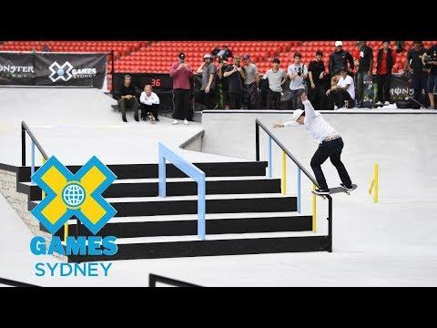 Shane O'neill wins bronze in Men's Skateboard Street    X Games Sydney 2018