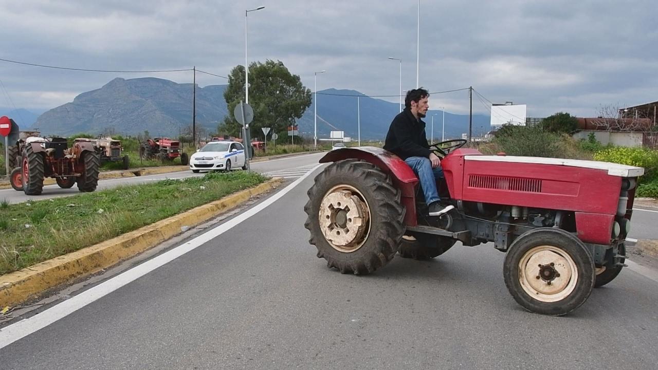 2ωρος αποκλεισμός της Εθνικής Κορίνθου – Αργους από αγρότες
