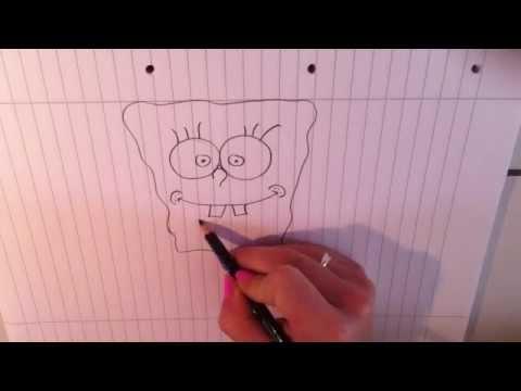 Spongebob zeichnen lernen – Spongebob Schwammkopf Malvorlage