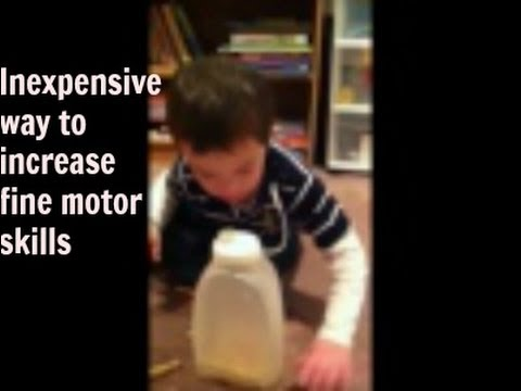 Watch video Down Syndrome: Game to practice fine motor skills