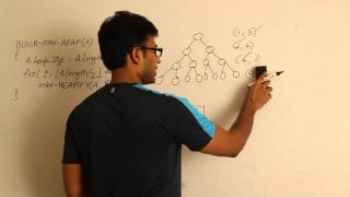 Algorithms lecture 13-- Build max heap algorithm and analysis