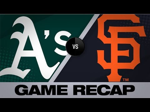 Video: Bumgarner's superb start lifts Giants by A's | Athletics-Giants Game Highlights 8/13/19